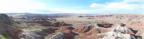 Panoramic view of the painted desert.