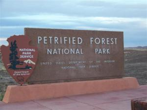 Petrified Forest National Park - the first (but not even close to last) National Park of our trip.