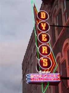 Dyer's on Beale... as seen on the Best Hamburgers in America on Food Network (we used to get cable)