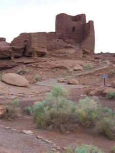 "Wukoki (Hopi for ""big house"") was occupied from 1100-1210 AD."
