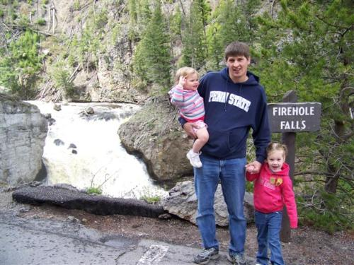 A great Daddy doesn't take the kids to a waterfall, he takes them to about a dozen.