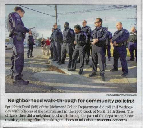 Sgt. Keith Dohl in the Richmond Times-Dispatch