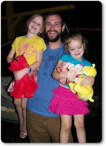 David Hudgins with nieces