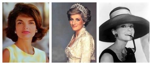 Jackie Kennedy, Princess Diana, Audrey Hepburn
