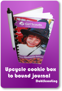 DohlScouting: Upcycle Cookie Box to Bound Journal