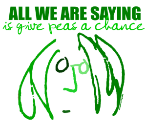 "Green Lennon says ""give peas a chance"""